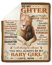 Never Feel U Are Alone Lion Mom To Daughter Sherpa Fleece Blanket tile
