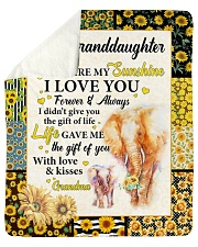 "Elephant-U R My Sunshine I Love U- GM To GD Sherpa Fleece Blanket - 50"" x 60"" thumbnail"