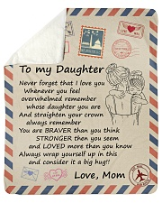 Never Forget That I Love You Mom-To-Daughter Sherpa Fleece Blanket tile