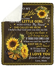 Once upon time There was liitle Girl Mom-Daughter Sherpa Fleece Blanket tile