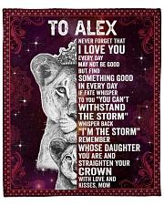 "Never Forget I Love U Lion Mom To Alex Fleece Blanket - 50"" x 60"" front"