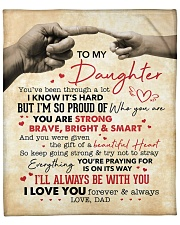 """You Are Strong Brave Bright Smart Dad To Daughter Fleece Blanket - 50"""" x 60"""" front"""