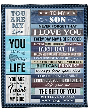 """Never Forget That I Love U Dad To Son Fleece Blanket - 50"""" x 60"""" front"""