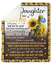 """Never Forget That I Love U Mom To Daughter Sherpa Fleece Blanket - 50"""" x 60"""" thumbnail"""