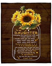 "My Love For U Is Forever Sunflower Dad To Daughter Fleece Blanket - 50"" x 60"" front"