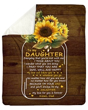 "My Love For U Is Forever Sunflower Dad To Daughter Sherpa Fleece Blanket - 50"" x 60"" thumbnail"