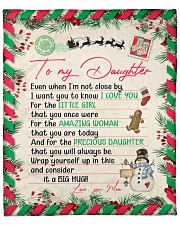"""Even When Im Not Close By Xmas Mom To Daughter Fleece Blanket - 50"""" x 60"""" front"""