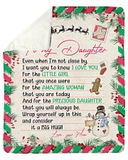 """Even When Im Not Close By Xmas Mom To Daughter Sherpa Fleece Blanket - 50"""" x 60"""" thumbnail"""