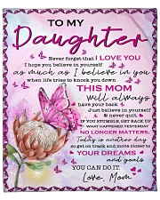 "Never Forget I Love U Mom To Daughter Fleece Blanket - 50"" x 60"" front"