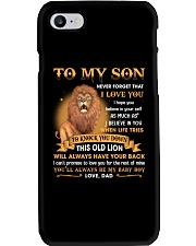 To My Son Never Forget That I Love You Phone Case thumbnail