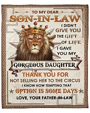 """I Didn't Give U The Gift - Lion To Son-in-law Fleece Blanket - 50"""" x 60"""" front"""