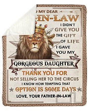 I Didn't Give U The Gift - Lion To Son-in-law Sherpa Fleece Blanket tile