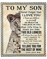 """Never Forget That I Love You-Lion Mom To Son Fleece Blanket - 50"""" x 60"""" front"""