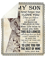 "Never Forget That I Love You-Lion Mom To Son Sherpa Fleece Blanket - 50"" x 60"" thumbnail"