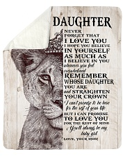 "Never Forget That I Love You-Lion Mom To Daughter Sherpa Fleece Blanket - 50"" x 60"" thumbnail"