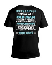 I 'm A Spoiled Grumpy Old Man Of Awesome Wife V-Neck T-Shirt thumbnail