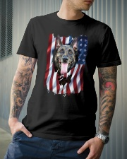 American Flag Belgian malinois Classic T-Shirt lifestyle-mens-crewneck-front-6