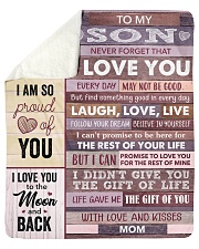 Never Forget That I Love You - Mom To Son Sherpa Fleece Blanket tile
