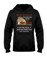 To My Husband Thanks For Being My Husband Hooded Sweatshirt thumbnail