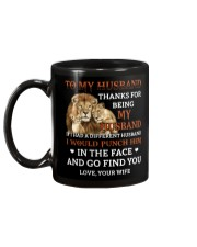 To My Husband Thanks For Being My Husband Mug back