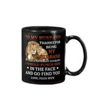 To My Husband Thanks For Being My Husband Mug front