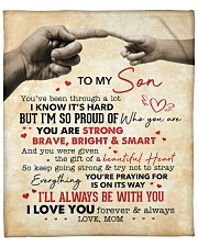 """You Are Strong Brave Bright Smart Mom To Son Fleece Blanket - 50"""" x 60"""" front"""