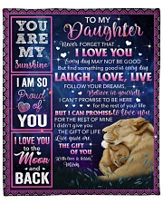 """Never Forget That I Love U Lion Mom To Daughter Fleece Blanket - 50"""" x 60"""" front"""