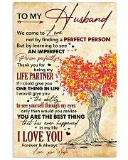 Husband Thanks For Being My Life Partner I Love U 11x17 Poster front