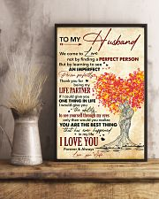 Husband Thanks For Being My Life Partner I Love U 11x17 Poster lifestyle-poster-3