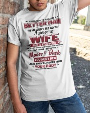 God Sent Me My Awesome Wife Classic T-Shirt apparel-classic-tshirt-lifestyle-27