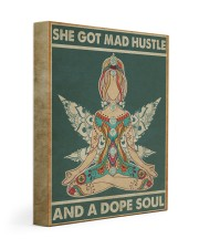 Hippie Girl She Got Mad Hustle And A Dope Soul 11x14 Gallery Wrapped Canvas Prints front