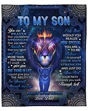 "U Are Braver Than U Believe Lion Dad To Son Fleece Blanket - 50"" x 60"" front"