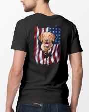 Chesapeake bay retriever Flag Classic T-Shirt lifestyle-mens-crewneck-back-5