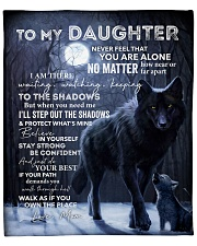 """Lion - Never Feel That U Are Alone Mom-To-Daughter Fleece Blanket - 50"""" x 60"""" front"""