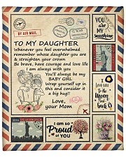 """I Love You To The Moon And Back Mom-To-Daughter Fleece Blanket - 50"""" x 60"""" front"""