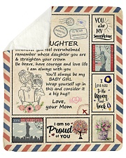 """I Love You To The Moon And Back Mom-To-Daughter Sherpa Fleece Blanket - 50"""" x 60"""" thumbnail"""