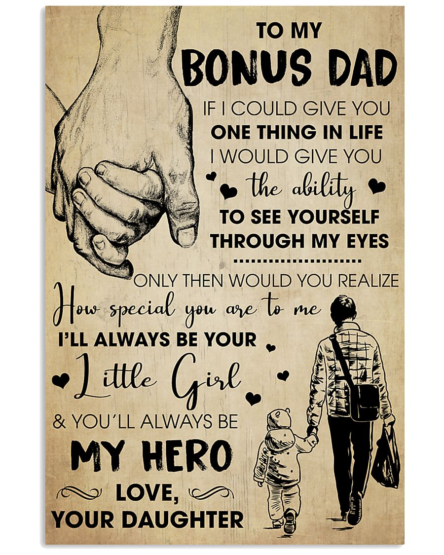Bonus Dad You'll Always Be My Hero - For Dad 11x17 Poster