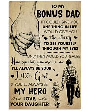 Bonus Dad You'll Always Be My Hero - For Dad 11x17 Poster front
