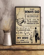 Bonus Dad You'll Always Be My Hero - For Dad 11x17 Poster lifestyle-poster-3