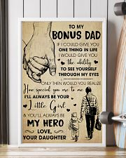 Bonus Dad You'll Always Be My Hero - For Dad 11x17 Poster lifestyle-poster-4