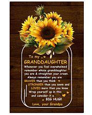 U Are Braver Than U Think Grandpa To Granddaughter 11x17 Poster thumbnail