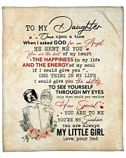"Once Upon A Time When I Asked God-Dad To Daughter Fleece Blanket - 50"" x 60"" front"