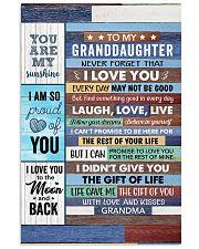 Never Forget That I Love U Grandma-Granddaughter 11x17 Poster thumbnail