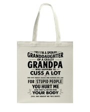 I Have A Crazy Grandpa Tote Bag tile