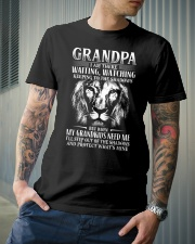 Grandpa step out of the shadows protect mine Classic T-Shirt lifestyle-mens-crewneck-front-6