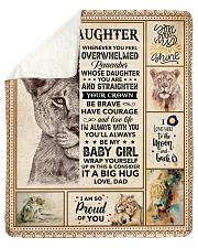 """Lion - Im So Proud Of You - Dad-To-Daughter Sherpa Fleece Blanket - 50"""" x 60"""" thumbnail"""