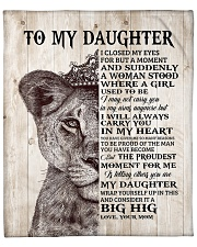 """Lion Crown-I closed my eyes moment M-To-Daughter Fleece Blanket - 50"""" x 60"""" front"""