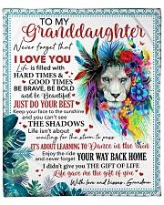 "Never Forget That I Love U Grandma-Granddaughter Fleece Blanket - 50"" x 60"" front"
