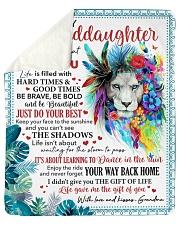 Never Forget That I Love U Grandma-Granddaughter Sherpa Fleece Blanket tile