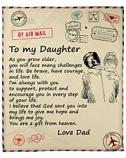 """You'll Face Many Challenges - Dad To Daughter Fleece Blanket - 50"""" x 60"""" front"""